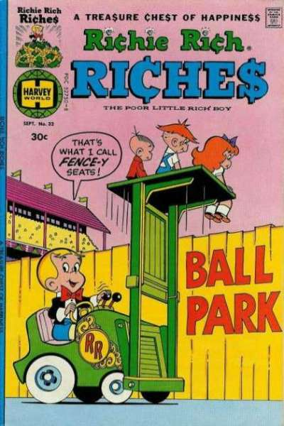 Richie Rich Riches #32 Comic Books - Covers, Scans, Photos  in Richie Rich Riches Comic Books - Covers, Scans, Gallery