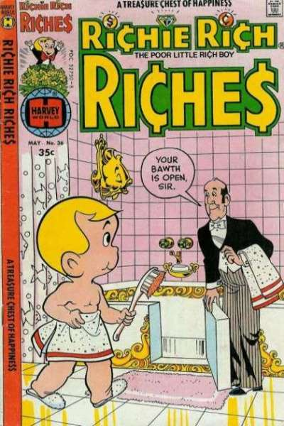 Richie Rich Riches #36 Comic Books - Covers, Scans, Photos  in Richie Rich Riches Comic Books - Covers, Scans, Gallery