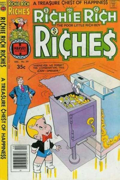 Richie Rich Riches #39 Comic Books - Covers, Scans, Photos  in Richie Rich Riches Comic Books - Covers, Scans, Gallery