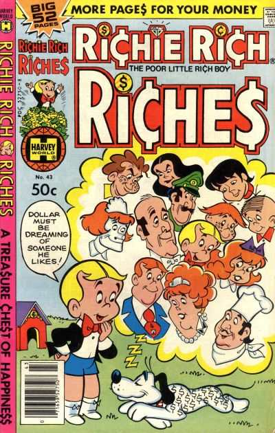 Richie Rich Riches #43 Comic Books - Covers, Scans, Photos  in Richie Rich Riches Comic Books - Covers, Scans, Gallery