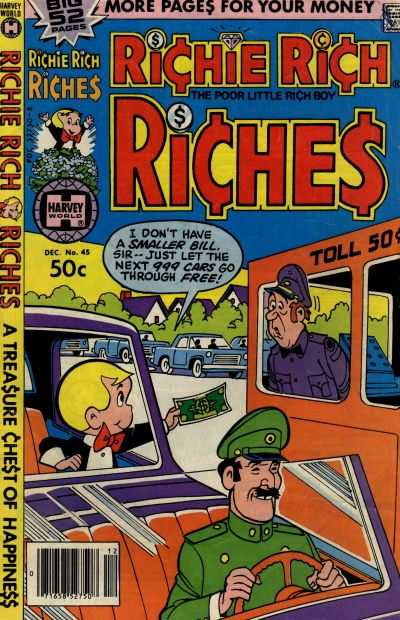 Richie Rich Riches #45 Comic Books - Covers, Scans, Photos  in Richie Rich Riches Comic Books - Covers, Scans, Gallery