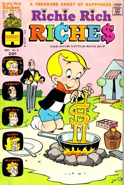 Richie Rich Riches #8 comic books for sale