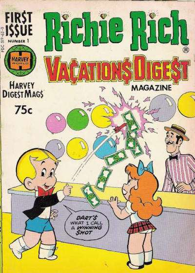 Richie Rich Vacations Digest comic books
