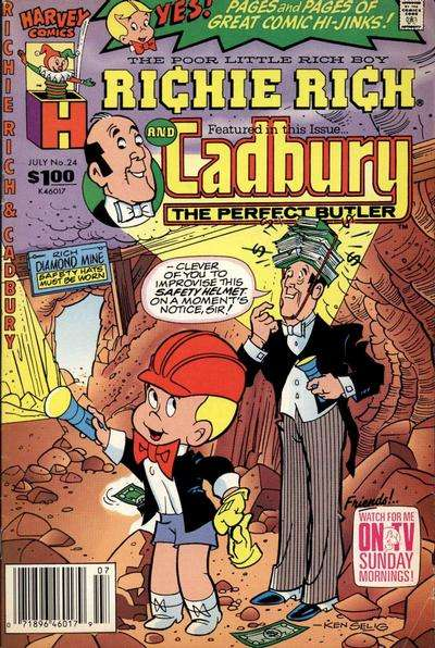 Richie Rich and Cadbury #24 Comic Books - Covers, Scans, Photos  in Richie Rich and Cadbury Comic Books - Covers, Scans, Gallery