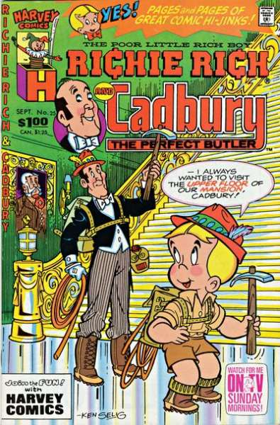 Richie Rich and Cadbury #25 comic books for sale