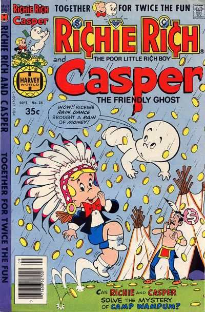 Richie Rich and Casper #25 comic books - cover scans photos Richie Rich and Casper #25 comic books - covers, picture gallery