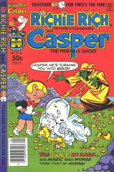 Richie Rich and Casper #40 Comic Books - Covers, Scans, Photos  in Richie Rich and Casper Comic Books - Covers, Scans, Gallery
