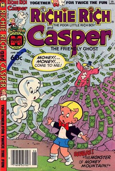 Richie Rich and Casper #44 Comic Books - Covers, Scans, Photos  in Richie Rich and Casper Comic Books - Covers, Scans, Gallery