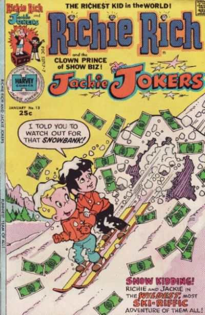 Richie Rich and Jackie Jokers #13 comic books - cover scans photos Richie Rich and Jackie Jokers #13 comic books - covers, picture gallery