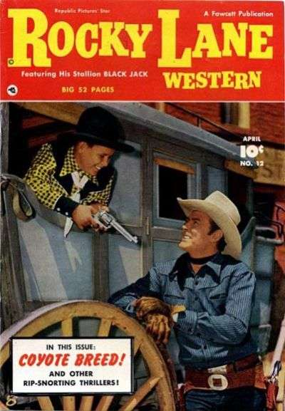 Rocky Lane Western #12 comic books - cover scans photos Rocky Lane Western #12 comic books - covers, picture gallery