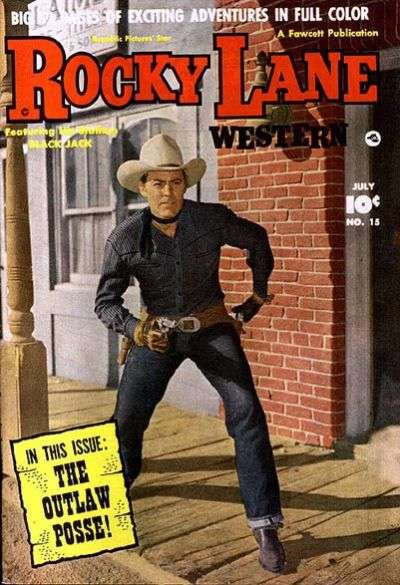 Rocky Lane Western #15 Comic Books - Covers, Scans, Photos  in Rocky Lane Western Comic Books - Covers, Scans, Gallery