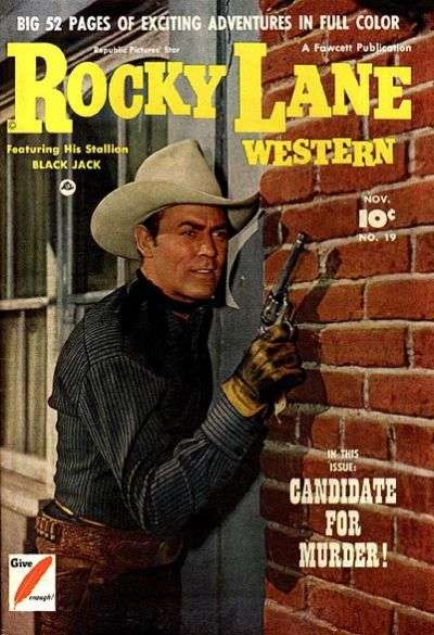 Rocky Lane Western #19 Comic Books - Covers, Scans, Photos  in Rocky Lane Western Comic Books - Covers, Scans, Gallery