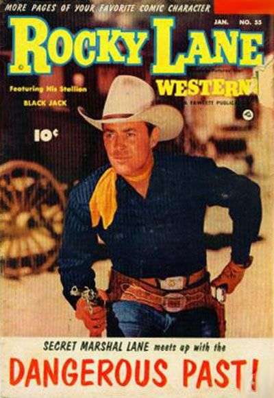 Rocky Lane Western #55 comic books for sale
