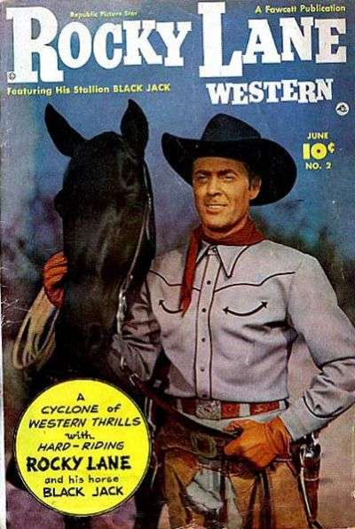 Rocky Lane Western #2 Comic Books - Covers, Scans, Photos  in Rocky Lane Western Comic Books - Covers, Scans, Gallery