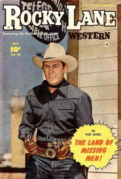 Rocky Lane Western #29 comic books - cover scans photos Rocky Lane Western #29 comic books - covers, picture gallery
