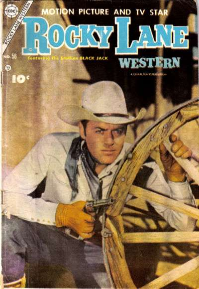 Rocky Lane Western #56 comic books - cover scans photos Rocky Lane Western #56 comic books - covers, picture gallery