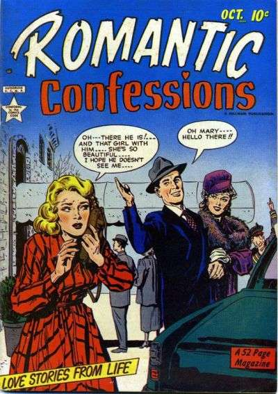 Romantic Confessions comic books