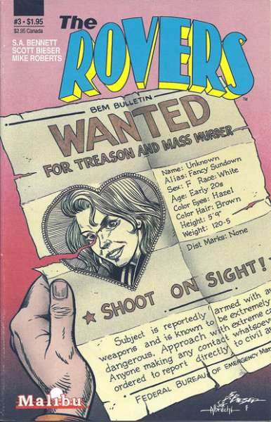 Rovers #3 comic books for sale