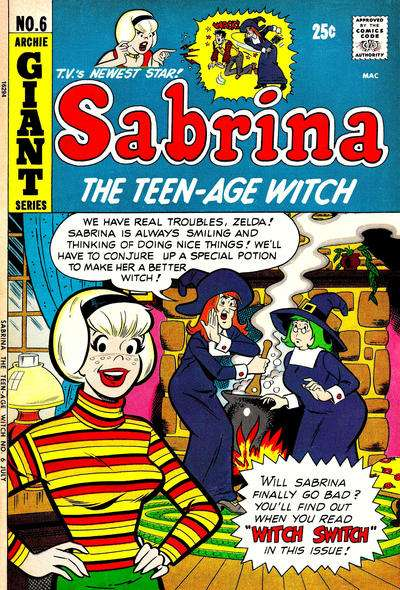 Sabrina the Teenage Witch #6 Comic Books - Covers, Scans, Photos  in Sabrina the Teenage Witch Comic Books - Covers, Scans, Gallery