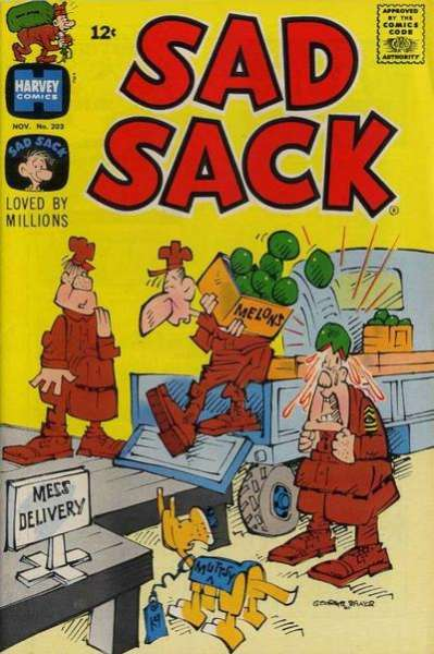 Sad Sack Comics #203 comic books for sale