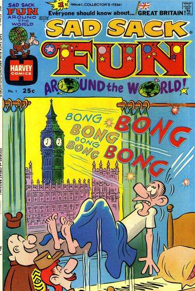 Sad Sack Fun Around the World #1 comic books - cover scans photos Sad Sack Fun Around the World #1 comic books - covers, picture gallery