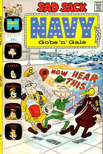 Sad Sack Navy: Gobs 'n' Gals comic books