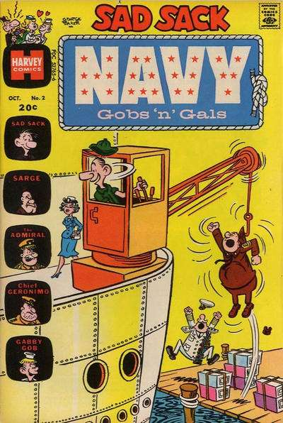 Sad Sack Navy: Gobs 'n' Gals #2 Comic Books - Covers, Scans, Photos  in Sad Sack Navy: Gobs 'n' Gals Comic Books - Covers, Scans, Gallery