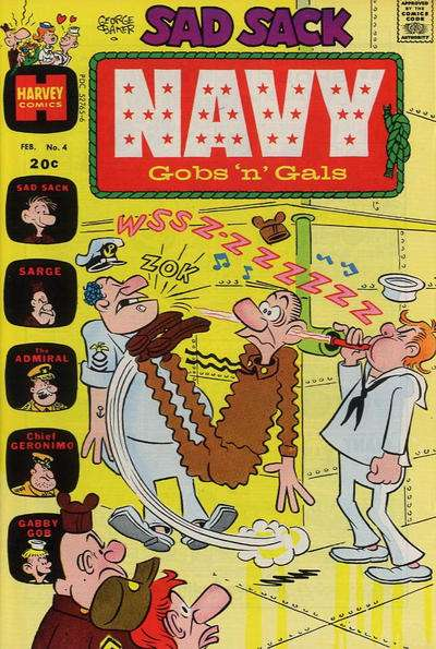 Sad Sack Navy: Gobs 'n' Gals #4 comic books - cover scans photos Sad Sack Navy: Gobs 'n' Gals #4 comic books - covers, picture gallery