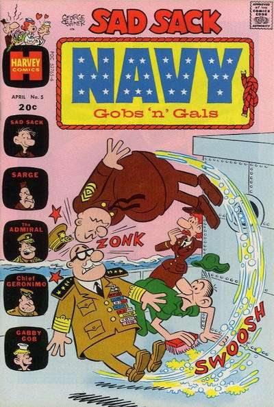 Sad Sack Navy: Gobs 'n' Gals #5 Comic Books - Covers, Scans, Photos  in Sad Sack Navy: Gobs 'n' Gals Comic Books - Covers, Scans, Gallery