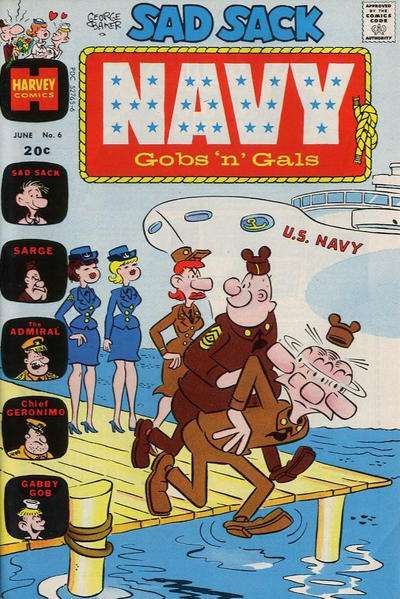 Sad Sack Navy: Gobs 'n' Gals #6 Comic Books - Covers, Scans, Photos  in Sad Sack Navy: Gobs 'n' Gals Comic Books - Covers, Scans, Gallery