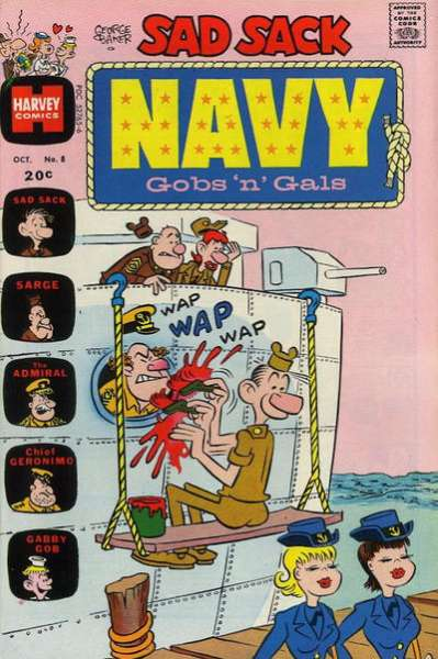 Sad Sack Navy: Gobs 'n' Gals #8 comic books - cover scans photos Sad Sack Navy: Gobs 'n' Gals #8 comic books - covers, picture gallery