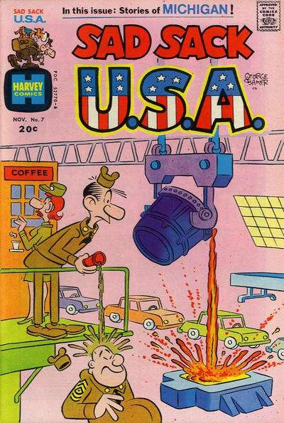 Sad Sack U.S.A. #7 Comic Books - Covers, Scans, Photos  in Sad Sack U.S.A. Comic Books - Covers, Scans, Gallery