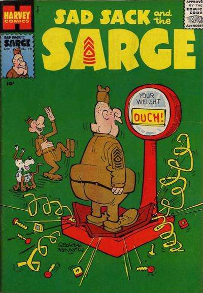 Sad Sack and The Sarge #10 Comic Books - Covers, Scans, Photos  in Sad Sack and The Sarge Comic Books - Covers, Scans, Gallery