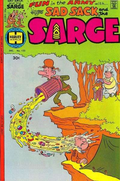 Sad Sack and The Sarge #122 comic books for sale