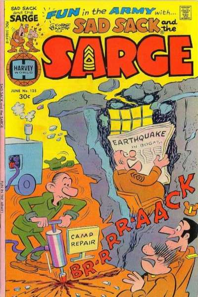 Sad Sack and The Sarge #125 comic books for sale