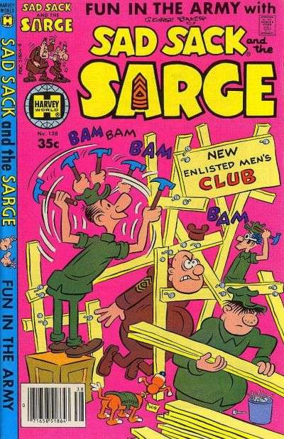 Sad Sack and The Sarge #138 comic books for sale