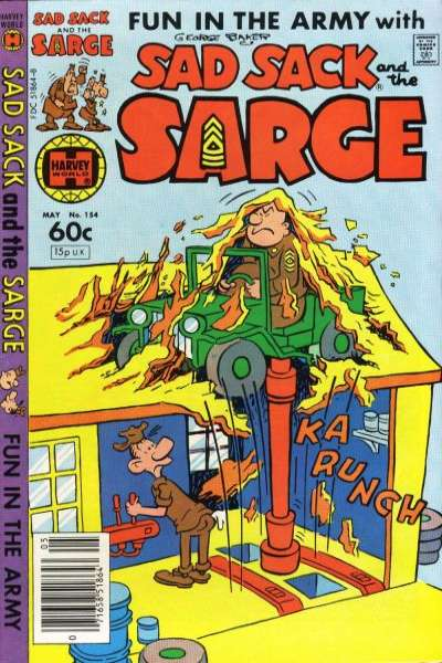 Sad Sack and The Sarge #154 comic books for sale