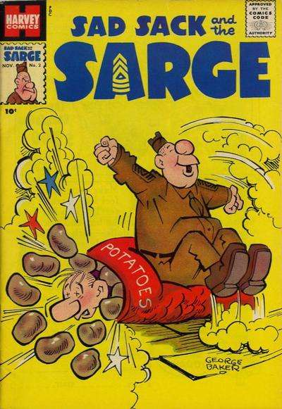 Sad Sack and The Sarge #2 Comic Books - Covers, Scans, Photos  in Sad Sack and The Sarge Comic Books - Covers, Scans, Gallery
