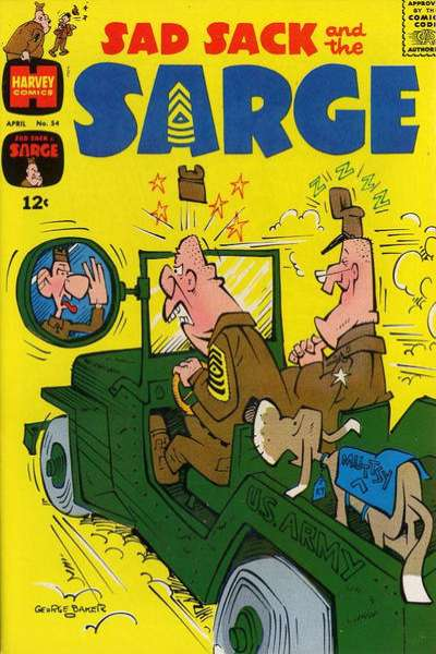 Sad Sack and The Sarge #54 comic books for sale