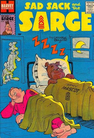 Sad Sack and The Sarge #7 Comic Books - Covers, Scans, Photos  in Sad Sack and The Sarge Comic Books - Covers, Scans, Gallery