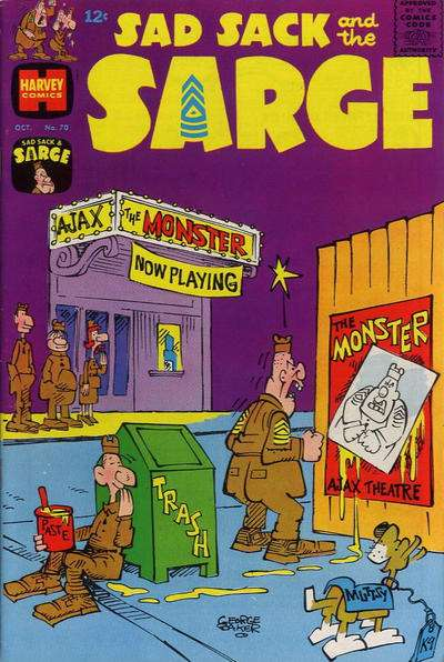 Sad Sack and The Sarge #70 comic books for sale