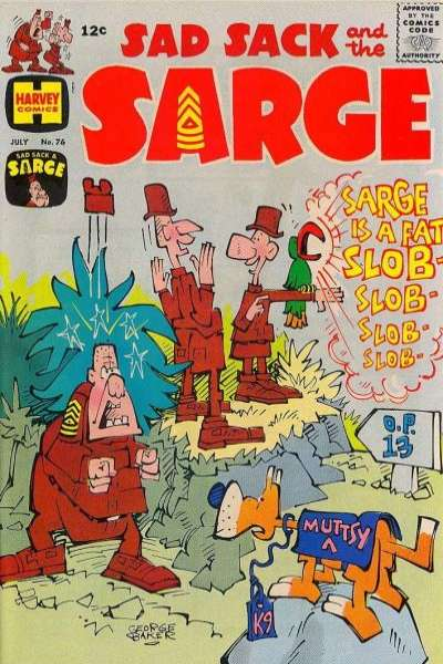 Sad Sack and The Sarge #76 comic books for sale