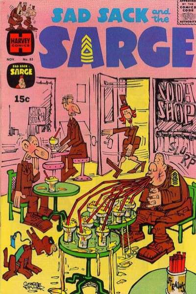 Sad Sack and The Sarge #85 comic books for sale