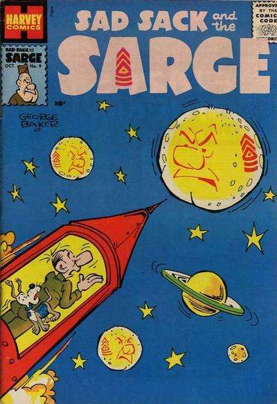 Sad Sack and The Sarge #9 Comic Books - Covers, Scans, Photos  in Sad Sack and The Sarge Comic Books - Covers, Scans, Gallery