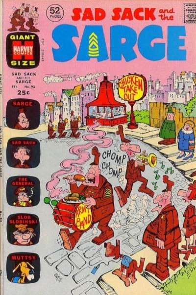Sad Sack and The Sarge #93 comic books for sale