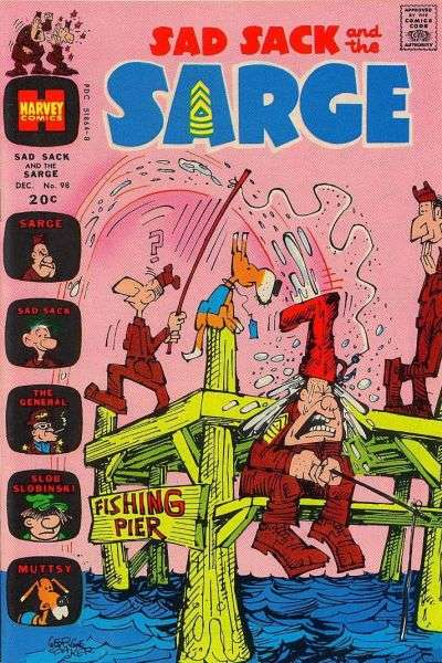 Sad Sack and The Sarge #98 comic books for sale