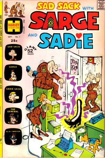 Sad Sack with Sarge and Sadie comic books