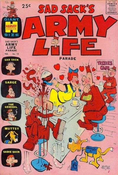 Sad Sack's Army Life #10 Comic Books - Covers, Scans, Photos  in Sad Sack's Army Life Comic Books - Covers, Scans, Gallery