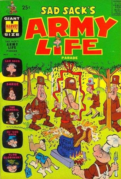 Sad Sack's Army Life #11 Comic Books - Covers, Scans, Photos  in Sad Sack's Army Life Comic Books - Covers, Scans, Gallery