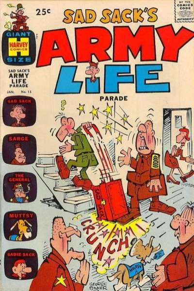 Sad Sack's Army Life #15 comic books for sale